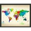 Artgeist Paint Splashes Map of the World 231cm x 300cm Wallpaper