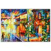 Hokku Designs Town from the Dream Germany by Leonid Afremov Painting Print on Wrapped Canvas