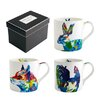 Fairmont and Main Ltd Julie Steel Designs 3 Piece Bone China Mug Set