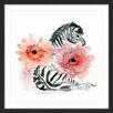 "Marmont Hill ""Zebra Flower"" by Michelle Dujardin Framed Painting Print"