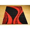 Castleton Home Finsbury Black/Red Area Rug