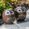 Alfresco Home Small Ceramic Owl Statue