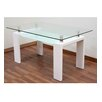 Hokku Designs Double Glass Dining Table