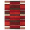 Metro Lane Nellie Hand-Woven Wool Red Rug