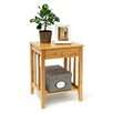 Relaxdays Bamboo Side Table