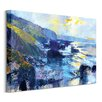 Art Group 'Tregardock Beach, December' by Chris Forsey Framed Wall art on Canvas