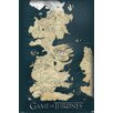 NEXT! BY REINDERS 'Game of Thrones - Map II' Graphic Art Print on Wood