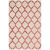 Bakero Chain Hand-Tufted Red Area Rug