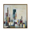 Skyscraper Horizon Framed Painting Print on Wrapped Canvas