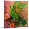 Marmont Hill 'Great Green Parrots' by Evelia Painting Print on Wrapped Canvas