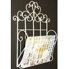 Castleton Home Metal Scroll Design Wall Hanging Single Section Magazine Rack