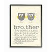 Stupell Industries Brother Definition Two Owls Giclee Texturized Framed Art
