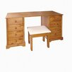 All Home 8 Drawer Dressing Table Set