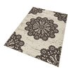Hanse Home Teppich Lace in Dunkelbraun/Creme