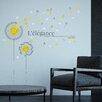 Home Loft Concept Yellow Dandelion and Swarovski Crystals Wall Sticker
