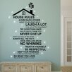 Home Loft Concept Rooftop House Rules and English Swarovski Crystals Wall Sticker
