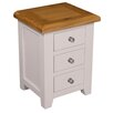Hazelwood Home Vigo 3 Drawer Bedside Table