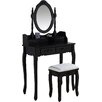 Castleton Home Styron Dressing Table Set with Mirror