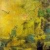 Marmont Hill 'Bird in a Yellow Haze' by Tracy Silva Barbosa Art Print on Wrapped Canvas