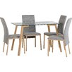Metro Lane Josue Dining Table and 4 Chairs