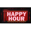 "Crystal Art Gallery Framed ""Happy Hour"" Down Arrow LED Marquee Sign"