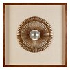 Castleton Home Framed Round Carving Wall Décor