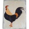 Home Loft Concept Hanging Cockerel Plaque Painting Print on Canvas