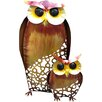 Castleton Home Animal Owl and Baby Rustic Statue