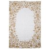 Hazelwood Home Cotton with Flowers Beige Area Rug