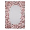 Hazelwood Home Cotton with Indian Flowers Red Area Rug