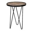Woood Lev Wood Metal Side Table (Set of 2)