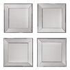 OSP Designs Decorative Square Wall Mirror (Set of 4)