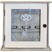 Wildon Home Distressed Wood and Glass Key Organiser