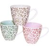 Just Mugs Milton 6 Piece Floral Repeat Mug Set (Set of 6)