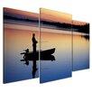 Bilderdepot24 Fisherman in Norway 3-Piece Photographic Print on Canvas Set