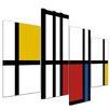 Bilderdepot24 4-tlg. Leinwandbilder-Set Abstrakte Geometrie, Grafikdruck