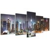 Bilderdepot24 New York IV 5 Piece Photographic Print on Canvas Set