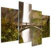 Bilderdepot24 Multnomah Falls in Oregon 4 Piece Photographic Print on Canvas Set