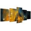 Bilderdepot24 Nebula Galaxy 5 Piece Graphic Art on Canvas Set