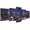 Bilderdepot24 New York III 5 Piece Photographic Print on Canvas Set