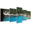 Bilderdepot24 Menorca 5-Piece Photographic Print on Canvas Set