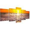 Bilderdepot24 Beach Sunset I 5-Piece Photographic Print on Canvas Set