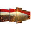 Bilderdepot24 Sunrise Mesa Arch, Canyonlands National Park 5-Piece Photographic Print on Canvas Set