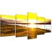Bilderdepot24 Sunset 5-Piece Photographic Print on Canvas Set