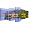 Bilderdepot24 Water Bungalows in French Polynesia 5-Piece Photographic Print on Canvas Set