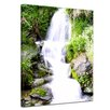 Bilderdepot24 Small Waterfall Framed Photographic Print on Canvas