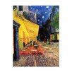 Bilderdepot24 'Café Terrace at Night' by Vincent Van Gogh Framed Oil Painting Print on Canvas
