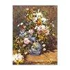 Bilderdepot24 'Flowers in a Vase' by Pierre Auguste Renoir Framed Oil Painting Print on Canvas