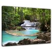Bilderdepot24 Waterfall in Forest Framed Photographic Print