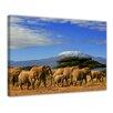 Bilderdepot24 Elephants at Kilimanjaro Framed Photographic Print